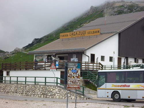 Lagazuoi cable car station