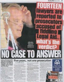 NO CASE TO ANSWER Sunday Mail 17 July 2011