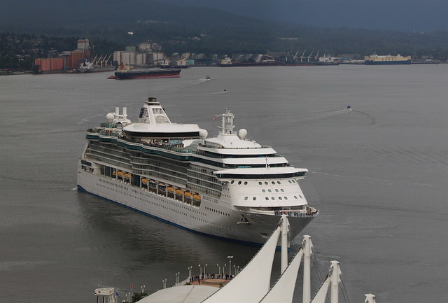 Royal Caribbean vessel 'Radiance of the Seas' departs Vancouver