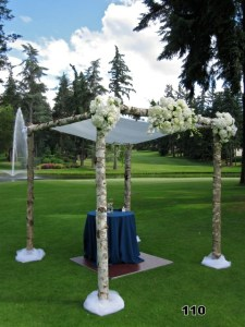 decorated chuppah