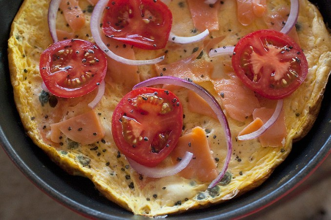 Lox & Cream Cheese Frittata: Food Photography by Jackie Alpers