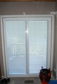 new sliding doors with built in blinds | Flickr - Photo ...