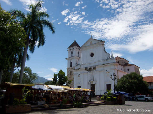 Main plaza in Santa Fe de Antioquia