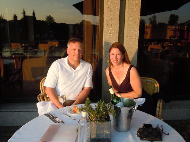 Big D & me at dinner
