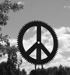 Peace Symbol Sculpture
