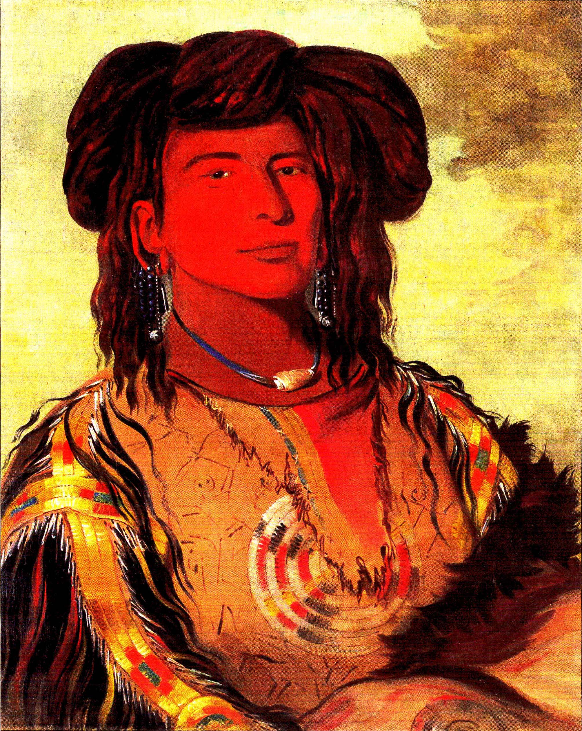 George Catlin, Ha-wón-je-tah, Lakota chief, 1832, der wahre Winnetou