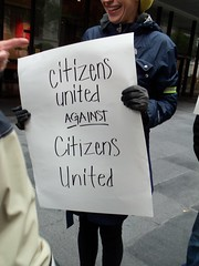 "opposing the ""Citizens United"" corporations are people ruling"