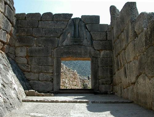 Micenas. Puerta leones