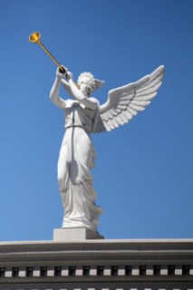 Trumpeting angel