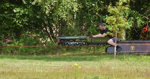 Miniature railway at Swanwick Junction