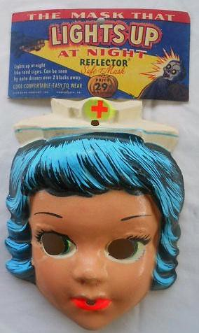 Vintage 1960's Nurse Halloween Mask