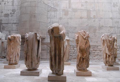 Paris, sculptures from Notre Dame