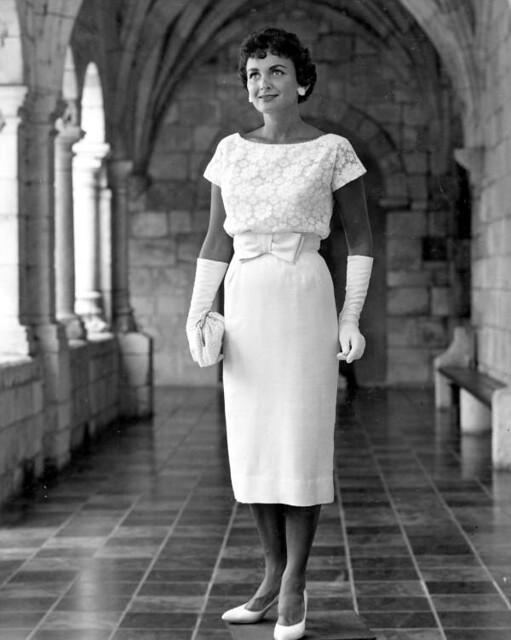 Elnita modeling fashion in the Ancient Spanish Monastery: North Miami Beach, Florida
