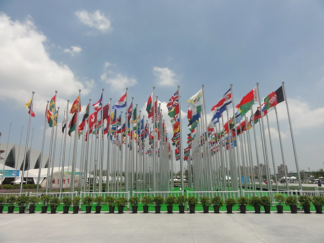 Forest of flags at Shanghai 2013