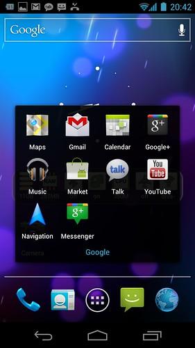 Google Apps di Samsung Galaxy Nexus