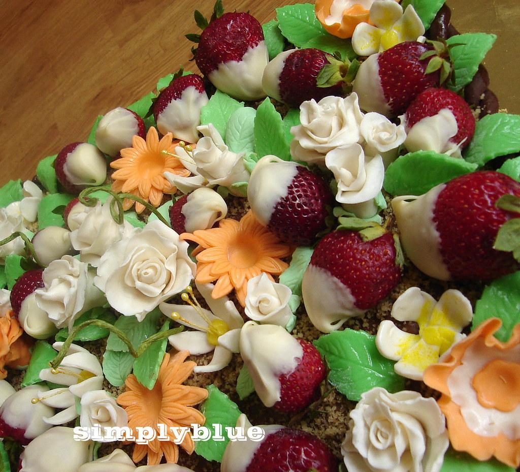 кошница с цветя