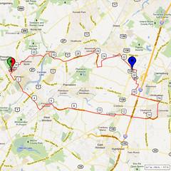 07. Bike Route Map. Princeton NJ