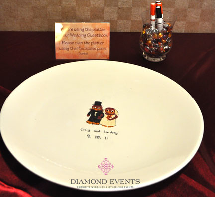 Guestbook Ceramic Dish for Guests to Sign