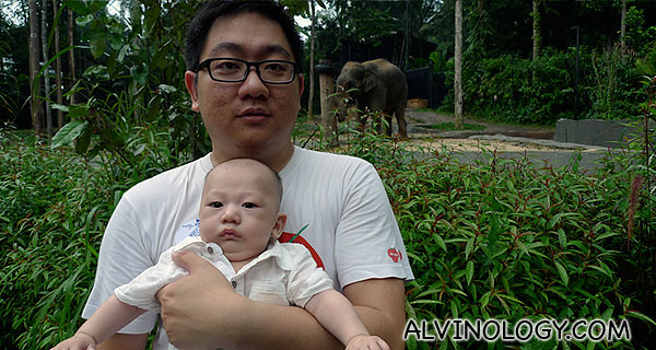 Asher and I with Sang Wira in the background