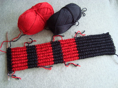 Paul's scarf in progress
