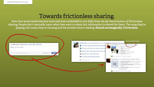The evolution towards frictionless sharing