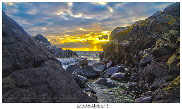 Visions of Norway.Sunset at Stapnes