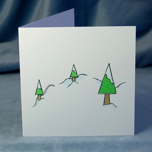 frosty trees - pop up card (front)