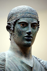 The Charioteer of Delphi, also known as Heniokhos (the rein-holder), photographer unknown