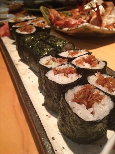 こうなごの巻き寿司