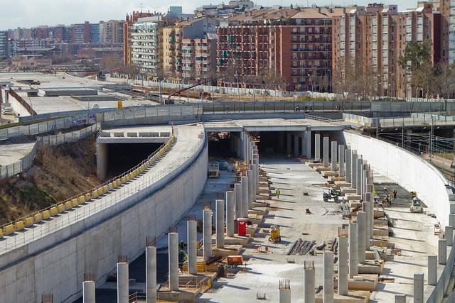 Zona nueva estación de Sant Andreu - 19-03-12