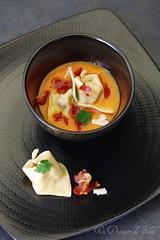 Tortelli d'automne (cèpes, stracchino, potiron et coppa)