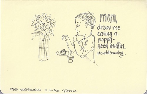 20/50 - Eating a poppy-yeed muffin