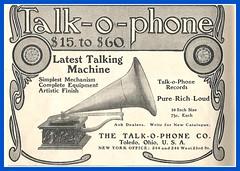 1904, Talk-o-Phone Talking machine