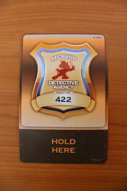 Midship Detective Agency / Muppets Adventure Game badge card