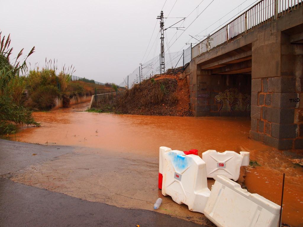 Lluvias en Oropesa del Mar (22/11/2011)