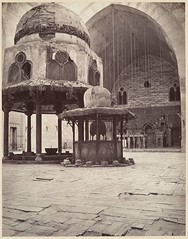 Interior of the mosque of Sultan Hassan, Cairo, by Adolphe Braun