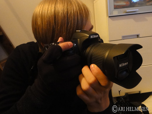 Testing the new photography gloves