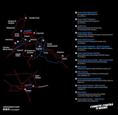 Mapa Tiendas Innovasport DF