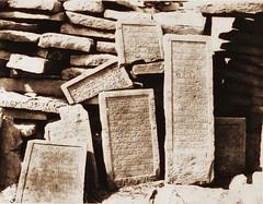 Assouan - cimetière Arabe - inscriptions funéraires, 1851-2, by Félix Teynard