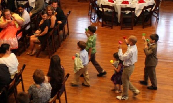 kids ringing in the ceremony
