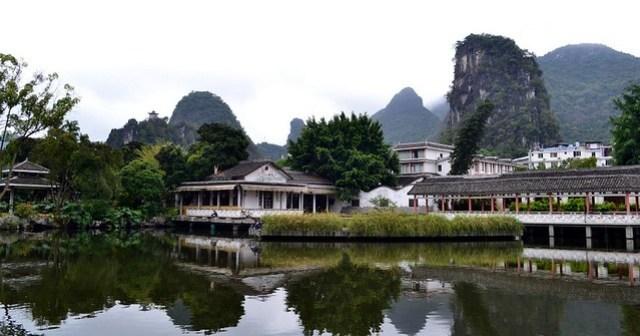 Yangshuo's town lake