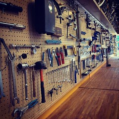 Tool Wall at Velo Cult