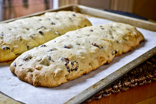 Pistachio, Cranberry & White Chocolate Biscotti