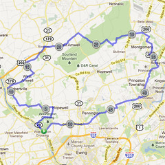 wc-04. Bike Route Map. Washington Crossing State Park.
