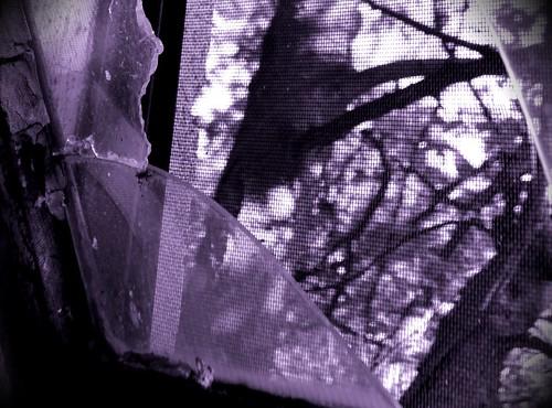 broken window night