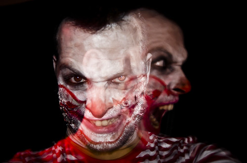 Halloween clown self portrait