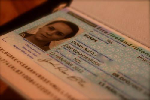 Tuesday: my Irish passport arrived