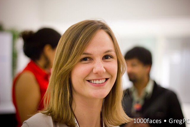 Face - smiling woman at emtech MIT