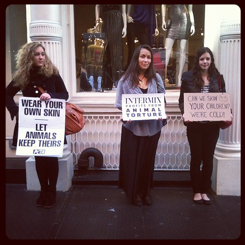 #Intermix Anti Fur Protest