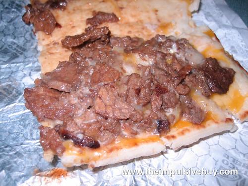 Taco Bell Triple Steak Stack Innards